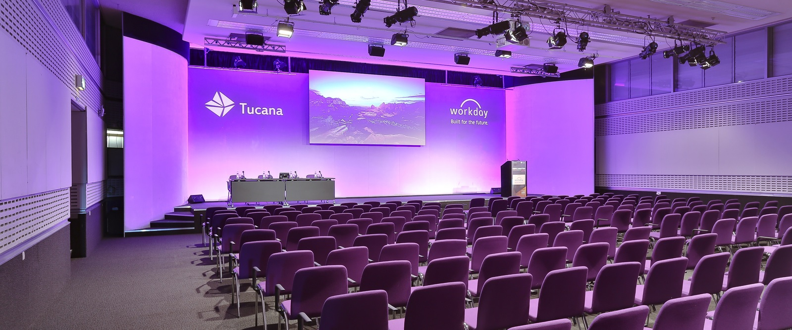 Empty conference theatre
