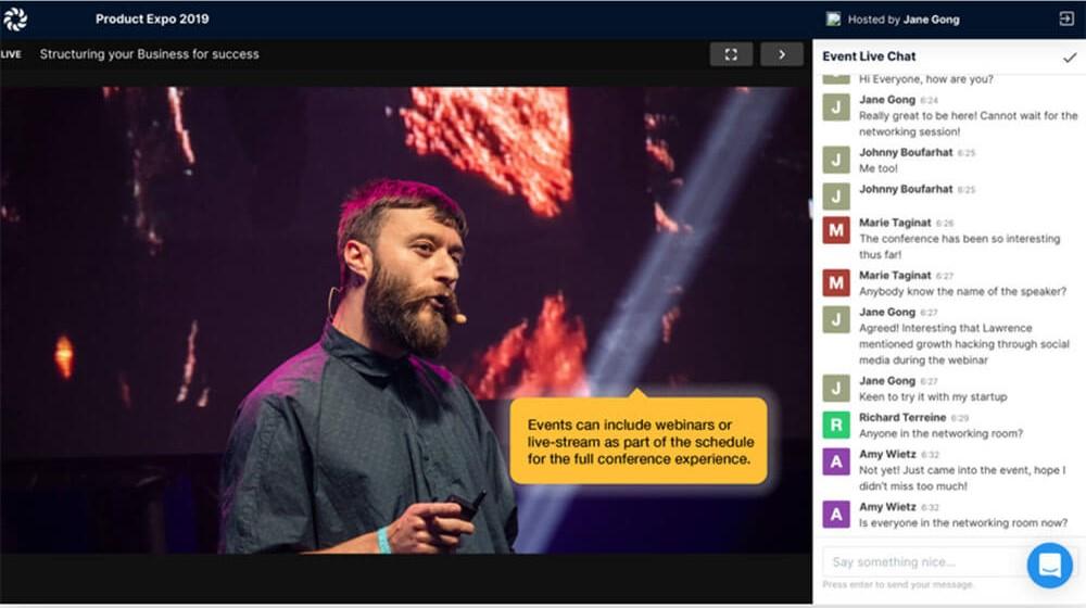 hopin virtual event datavizlive online