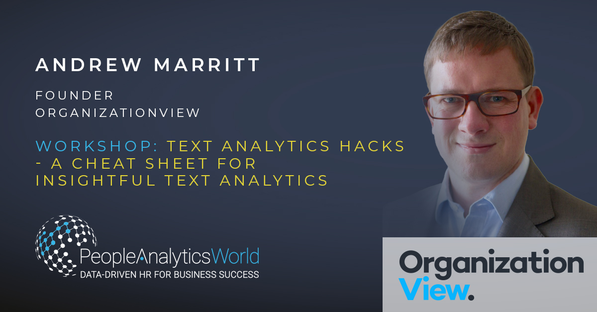 Andrew Marritt Text Analytics Workshop Masterclass