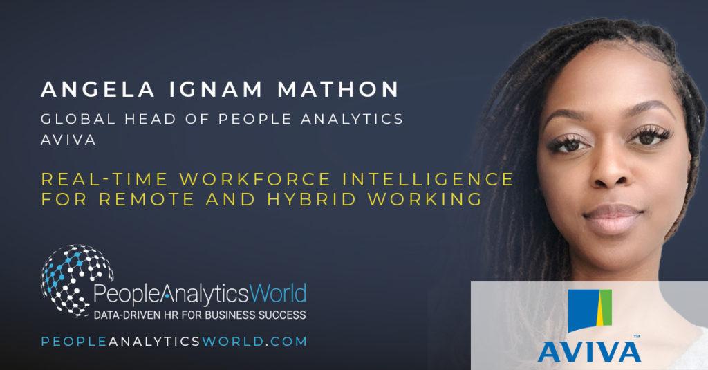Angela Ignam Workforce Intelligence Aviva People Analytics