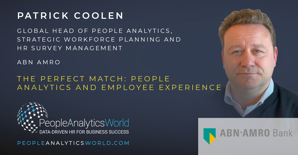 Patrick Coolen ABN AMRO People analytics Employee Experience