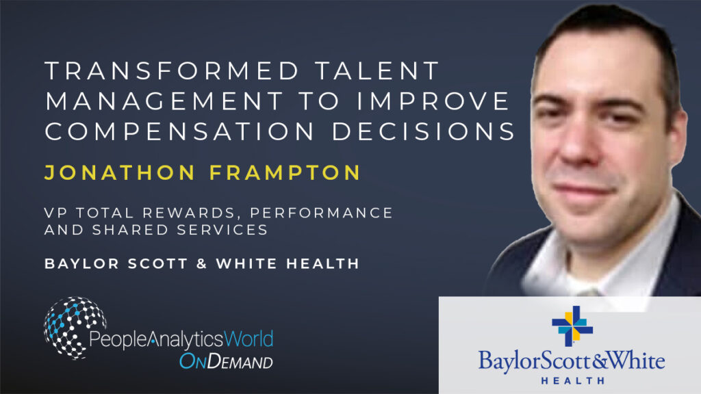 Jonathon Frampton Talent transformation compensation decision-making