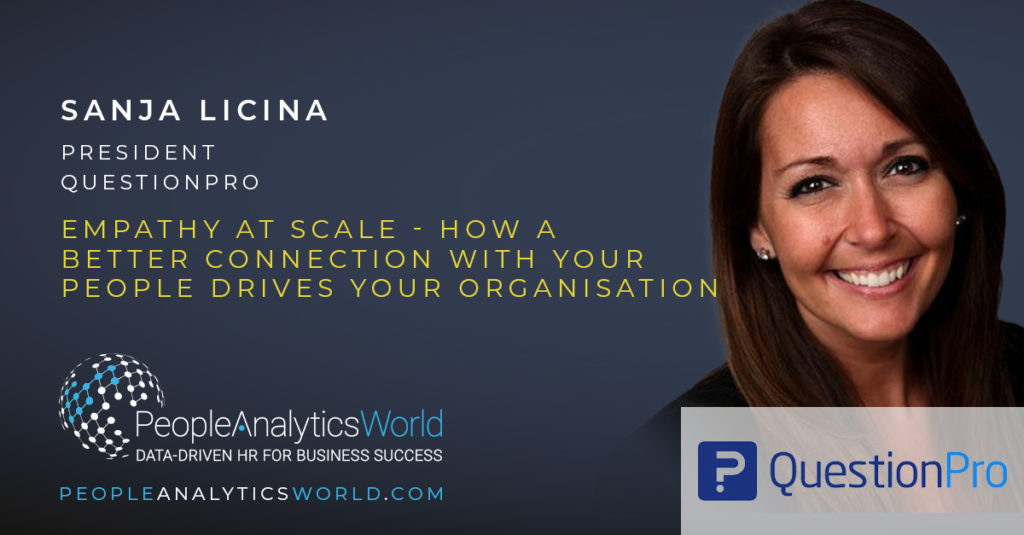 Sanja Licina QuestionPro employee listening empathy at scale sentiment analysis