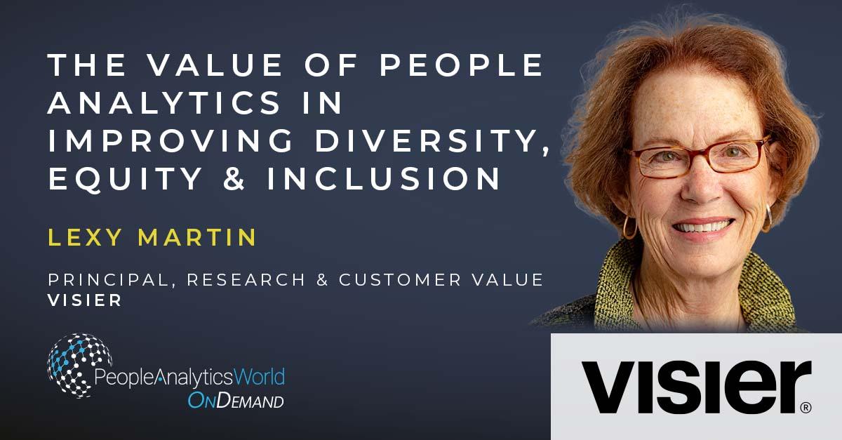 Lexy Martin Visier DEI People Analytics
